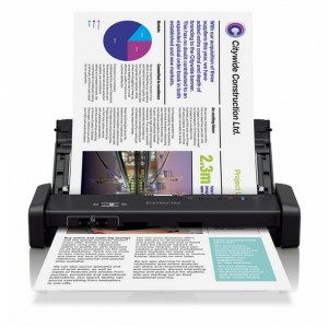 Epson WorkForce DS-310 Portable Sheet-fed Document Scanner - Scan Speed 25 ppm - Resolution 600x600 dpi