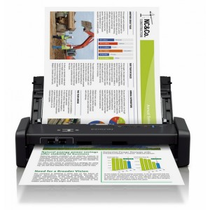 Epson WorkForce DS-360W Wi-Fi Portable Sheet-fed Document Scanner - Scan Speed 25 ppm - Resolution 600x600 dpi